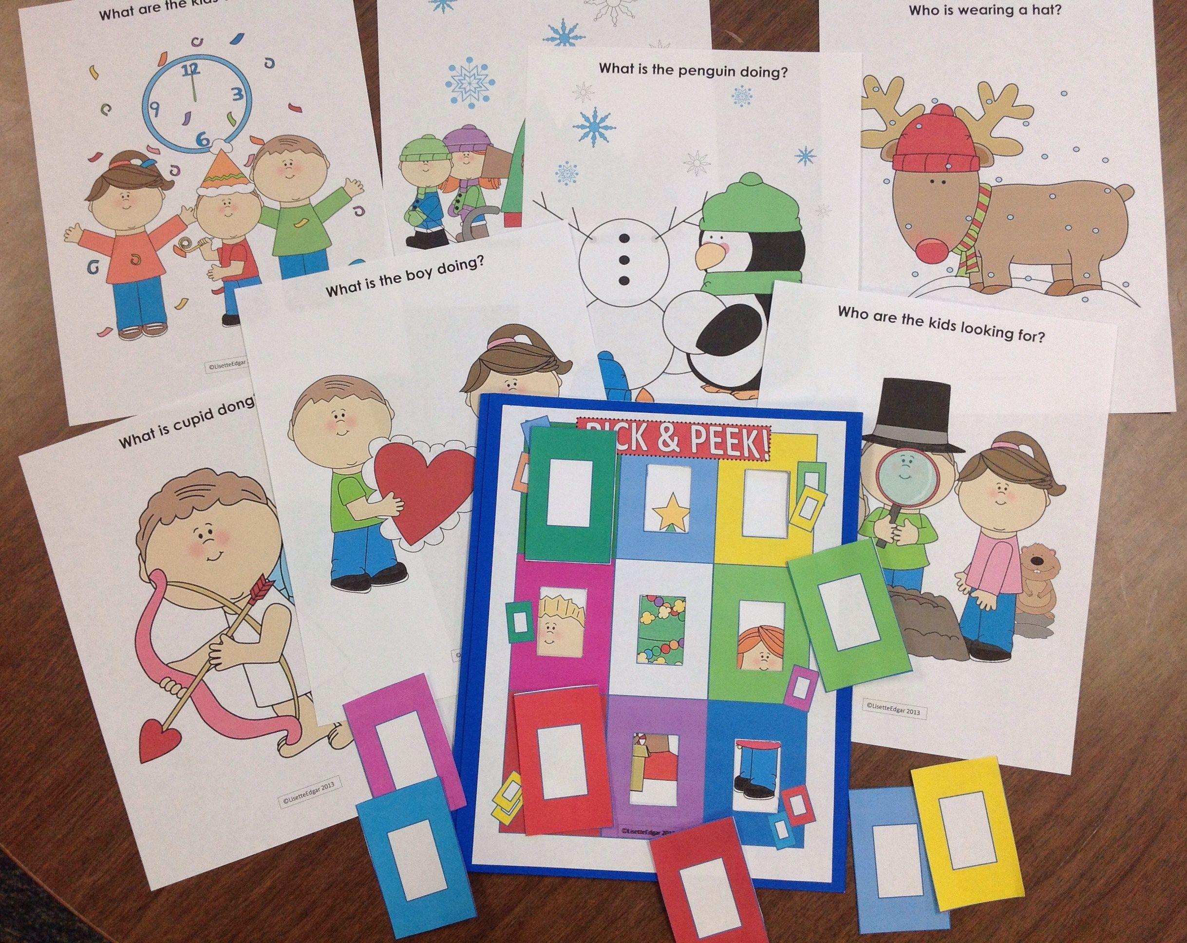 Winter Speech Therapy Fun For Winter Christmas New Years Eve Valentine S Day And Groundhog