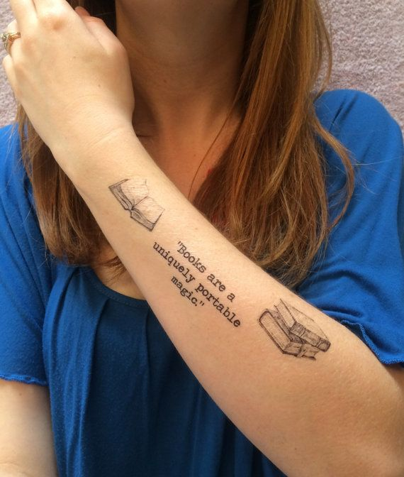 3 book lover temporary tattoos smashtat book lovers for Removal of temporary tattoos