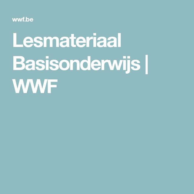 Lesmateriaal Basisonderwijs | WWF