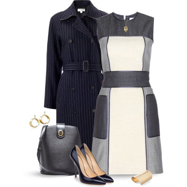 """""""Trench & Dress"""" by justjules2332 on Polyvore"""