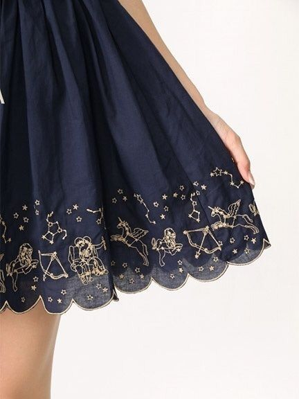 59f4504f0935 Cosmic Couture ☽ Celestial Costumes ☼ zodiac hemline trim, skirt, and stars  image