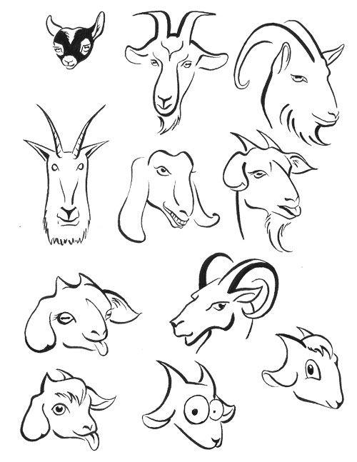 4f89fa7ab Black Sheep Tattoo, Goat Logo, Animal Paintings, Animal Drawings, Cartoon  Drawings,