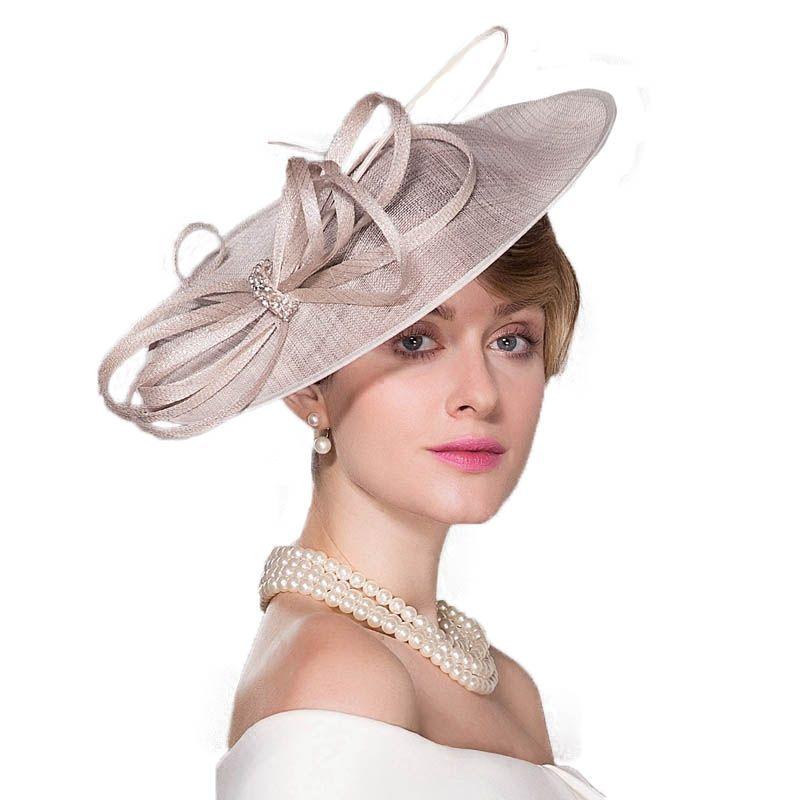 Women Sinamay Fascinator Hats Kentucky Derby Church Hat Wedding Party Headbands Fedora Cocktail Hats