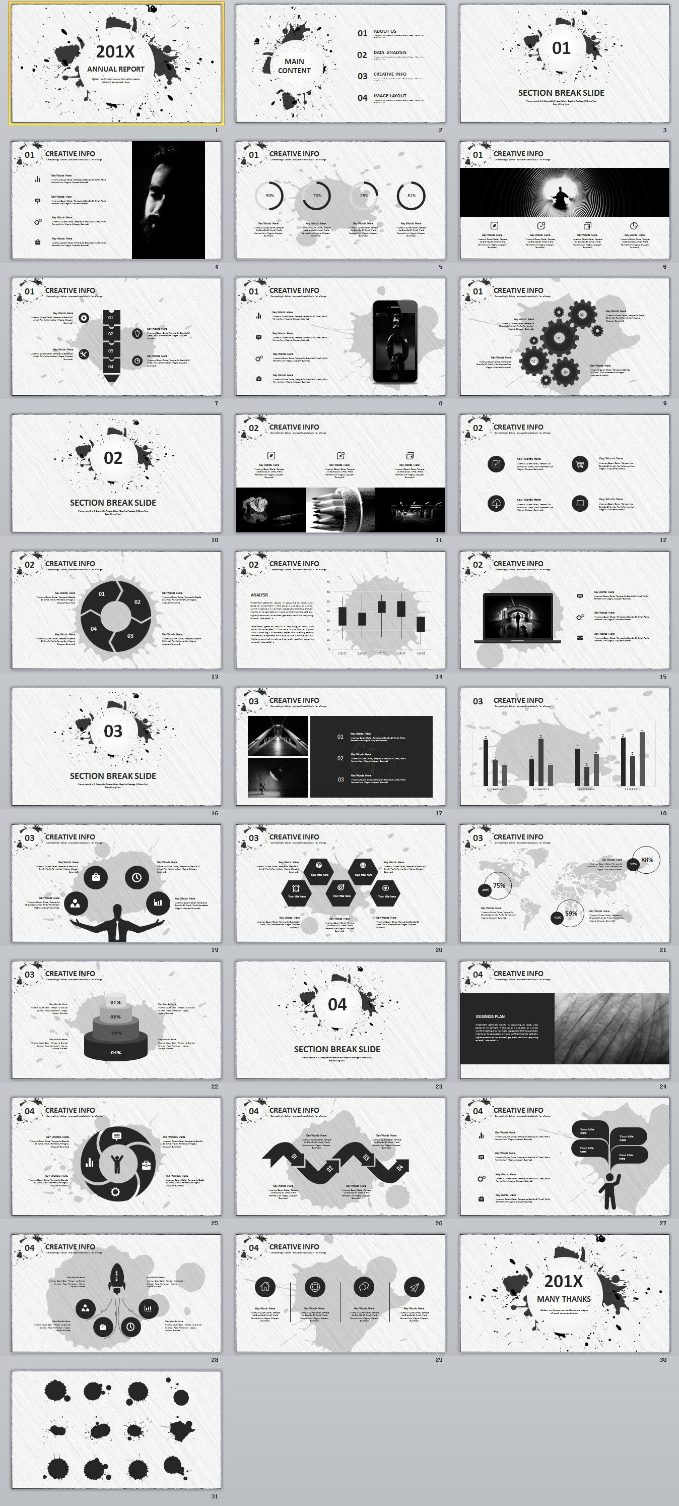 30+ Best gray annual report PowerPoint template #powerpoint ...