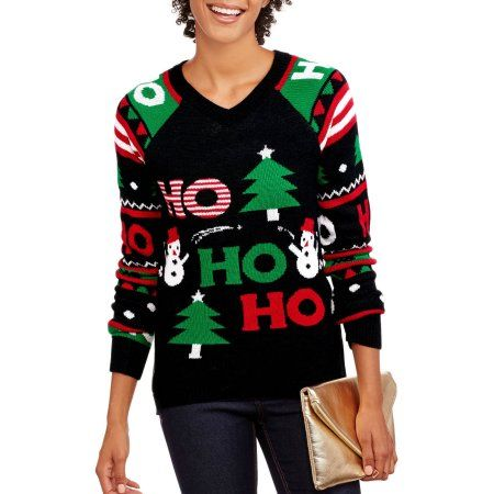 No Boundaries Juniors' Holiday Christmas Sweater with Light Up ...