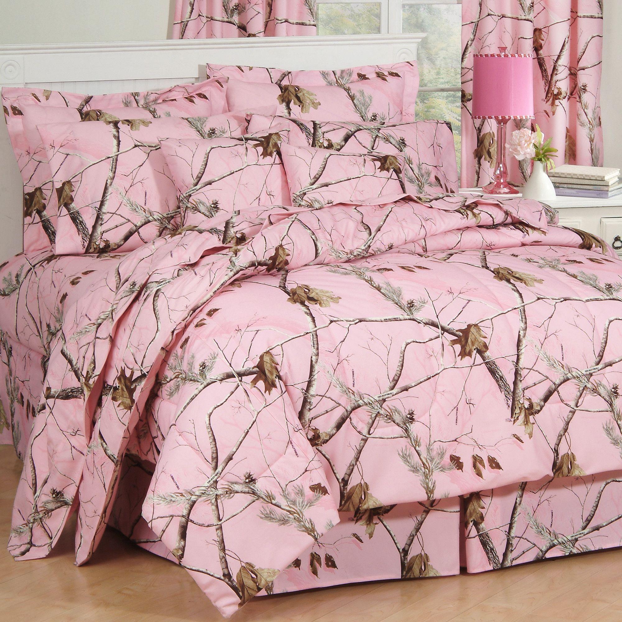 Incroyable Camo Comforter Set In Pink