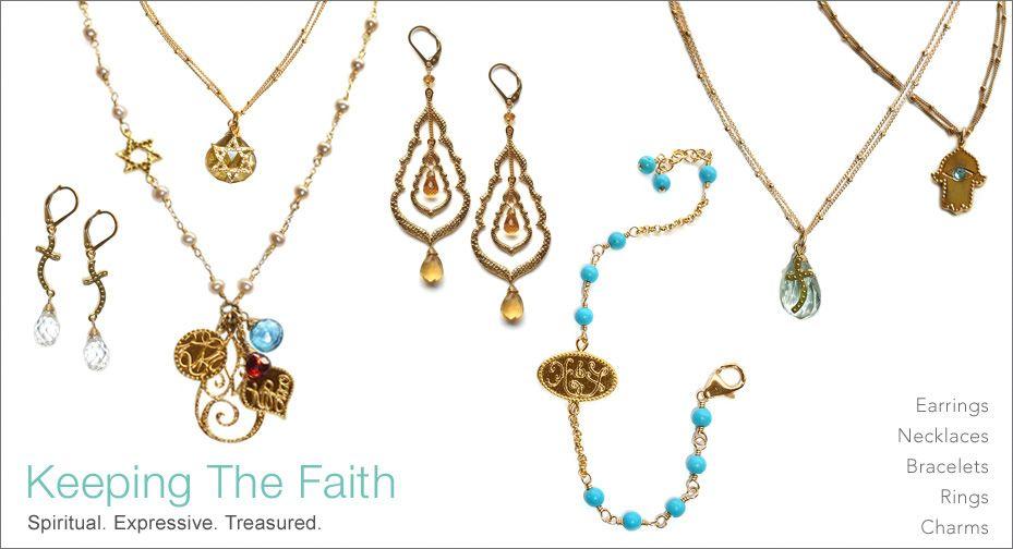 Keeping The Faith Spiritual Jewelry Sideways Cross Necklace