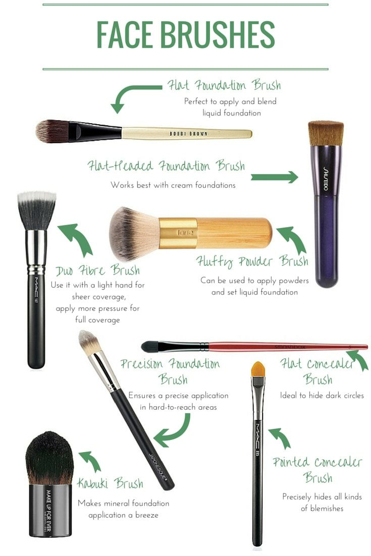 d924000ccb8 Face Brushes: Which One Does What? | skin care | Makeup, Best makeup ...