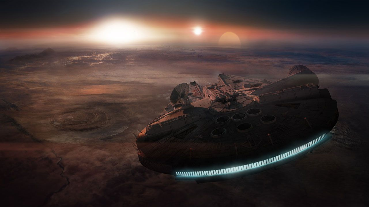 Star Wars Millennium Falcon 4k Wallpapers Free Computer Desktop Wallpapers Star Wars Wallpaper Star Wars Episode Vii Star Wars 7