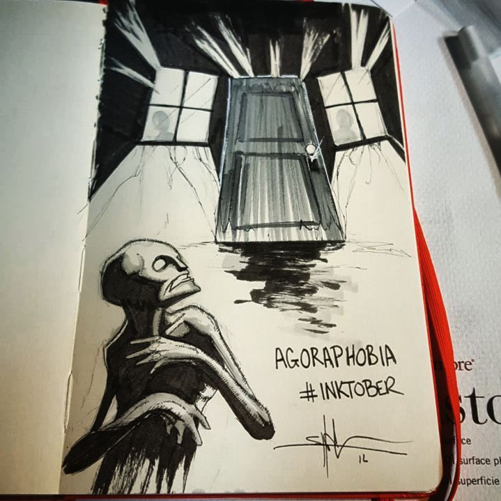 agoraphobia http greatist com live striking illustrations represent different types of mental illness