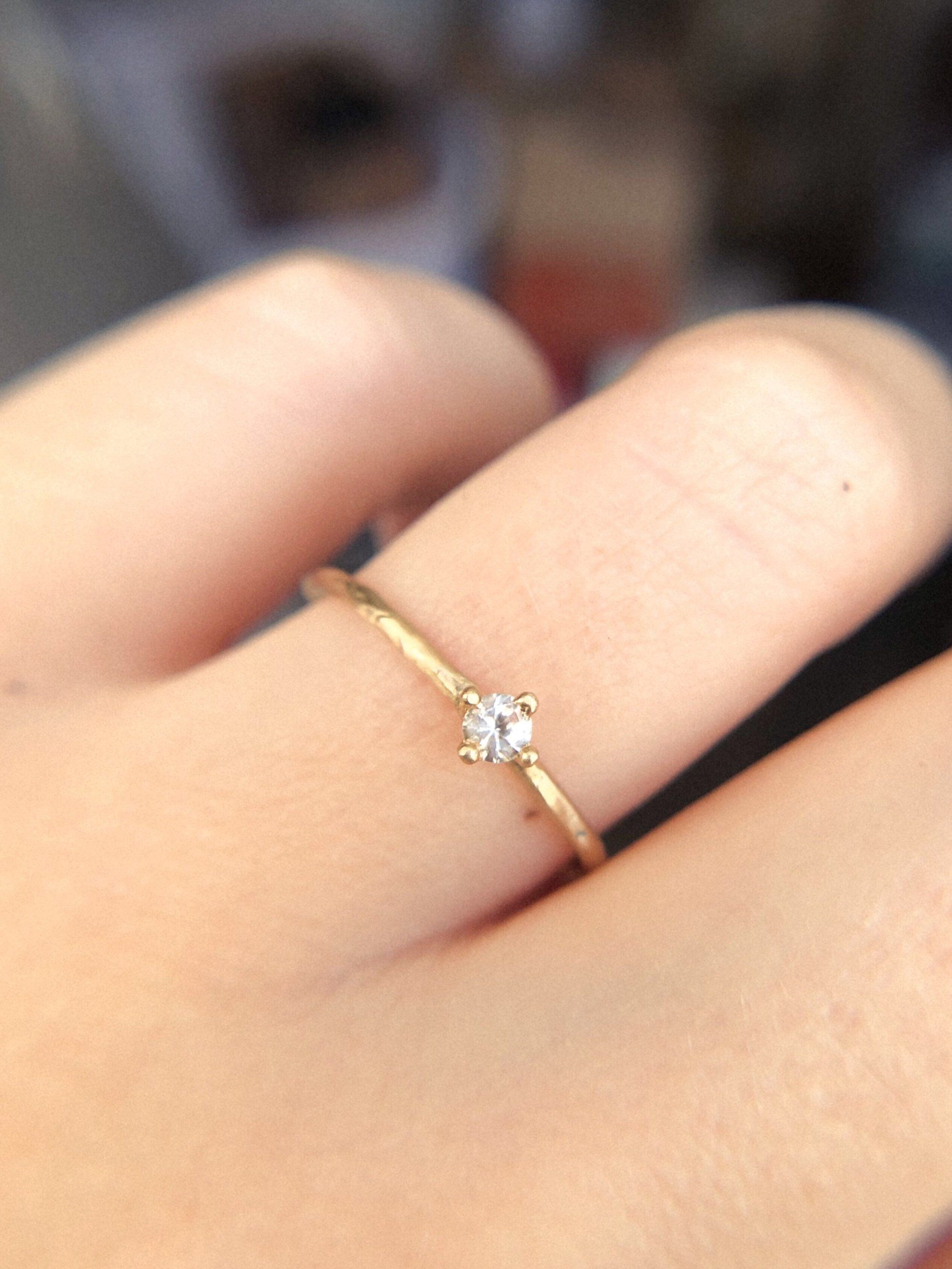 Hera Solitaire 3mm 11 Ct Unique Diamond Engagement Rings Boho Engagement Ring Unique Engagement Rings