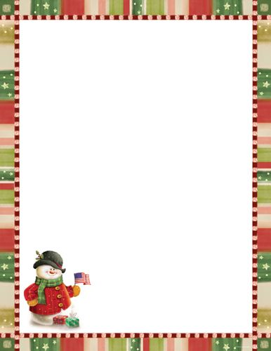 patriotic snowman christmas letterhead christmas stationery holiday