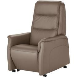 Photo of Hukla TV armchair Dean – brown – 70 cm – 107 cm – 88 cm – upholstered furniture> Armchairs> Leather armchair Hukl