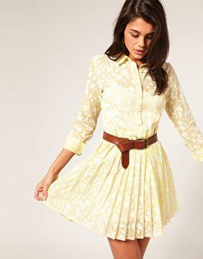 Lace shirt dress.