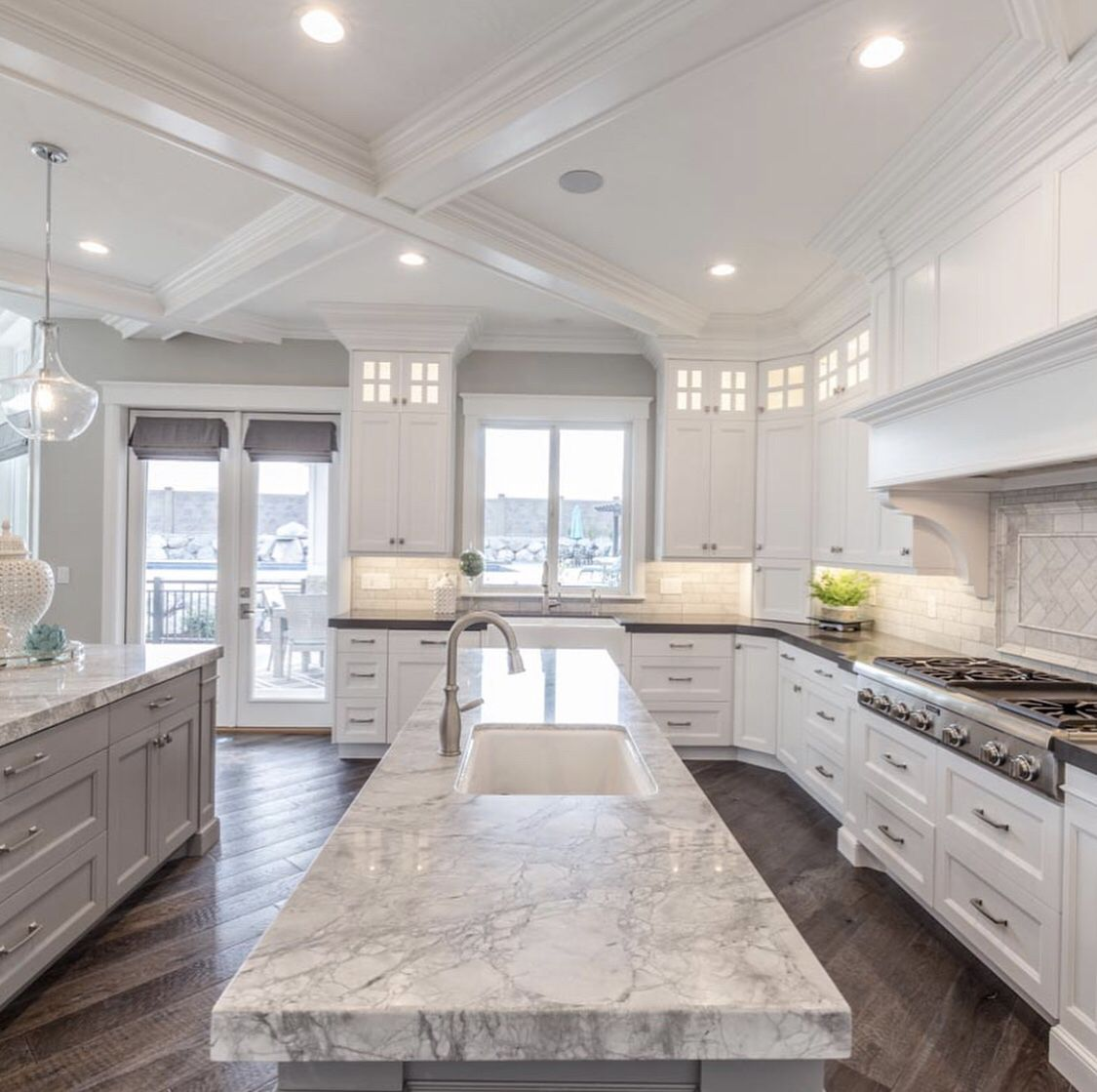 Gorgeous Marble Kitchen Countertops #housegoals
