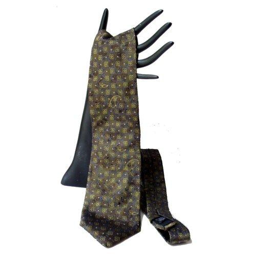 Vintage Canali Silk Tie Paisley Textured Olive Green Blue Gold   AestheticsAndOldLace - Accessories on ArtFire