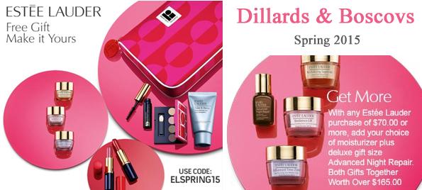 Estee Lauder GWP Dillard's and Boscov's. http