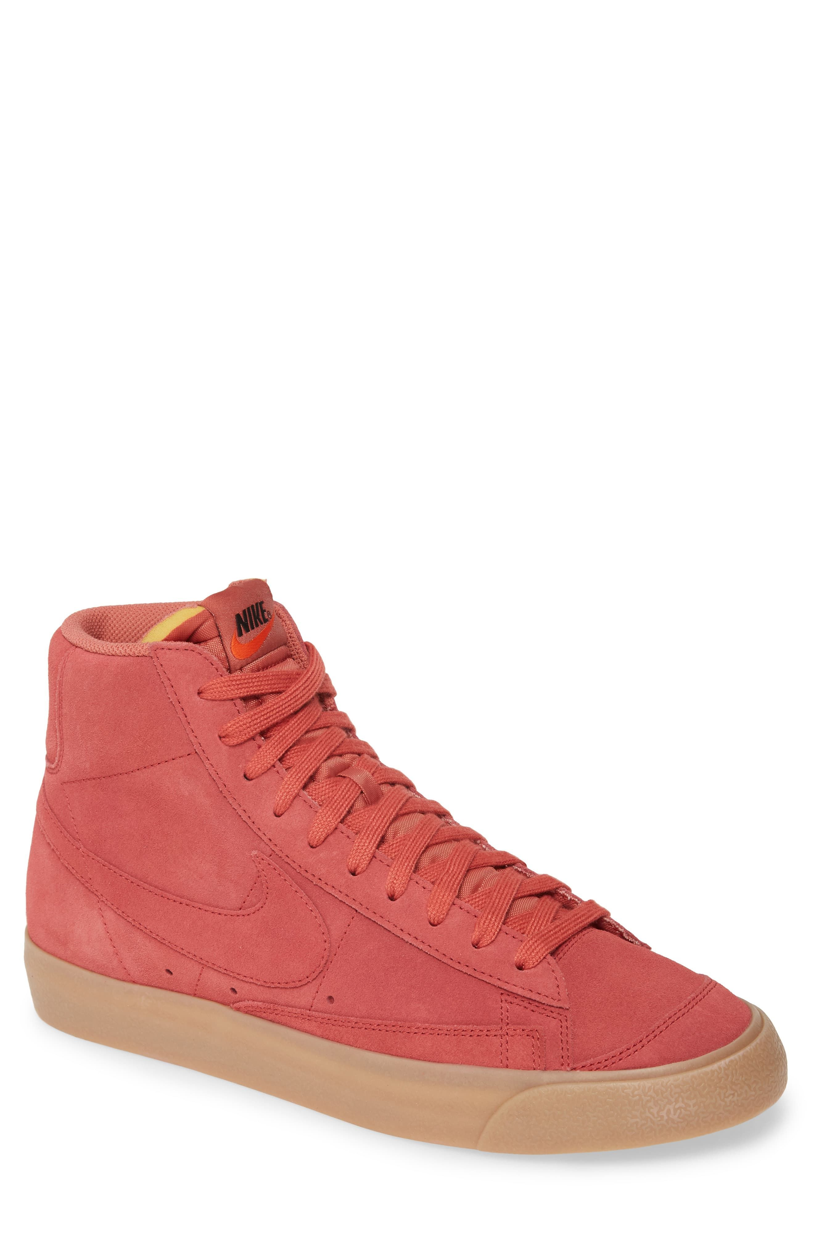 Nike Blazer Mid '77 Suede Sneaker, Size 10.5 M Red in 2020