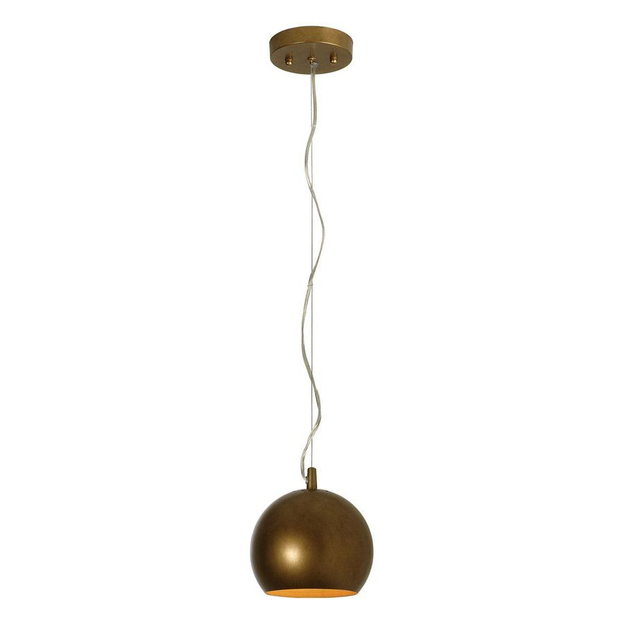 Maybe change the finish...  Shop Trend Lighting Latitude 7-in W Hand-Painted Antique Gold Mini Pendant Light with Metal Shade at Lowes.com