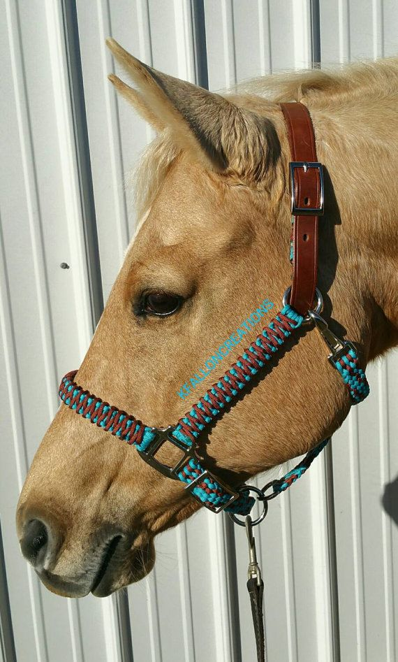 Braided Horse Halter by KFallonCreations on Etsy