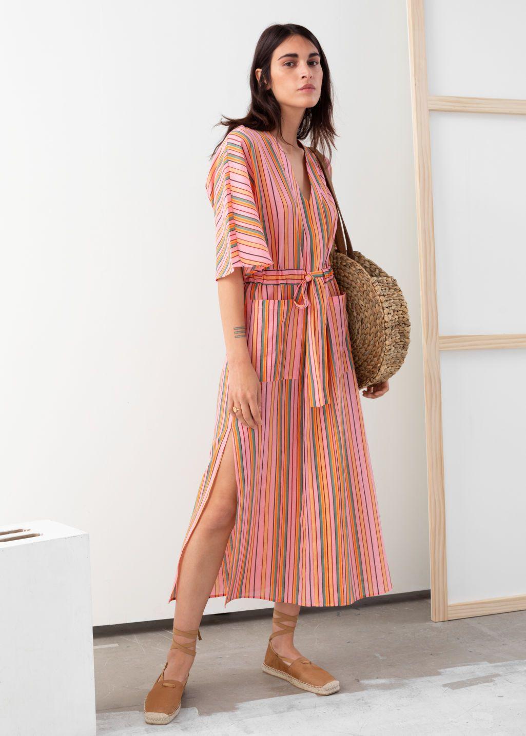 Pdp Cotton Midi Dress Striped Midi Dress Midi Dress [ 1435 x 1025 Pixel ]