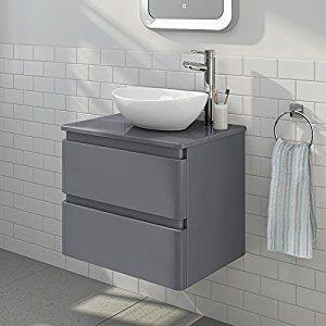Superb 160 45 Cm Deep Modern Square Gloss Grey Bathroom Furniture Download Free Architecture Designs Ogrambritishbridgeorg