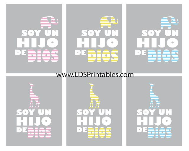 I Am A Child of God in spanish and english | Printables | Pinterest ...