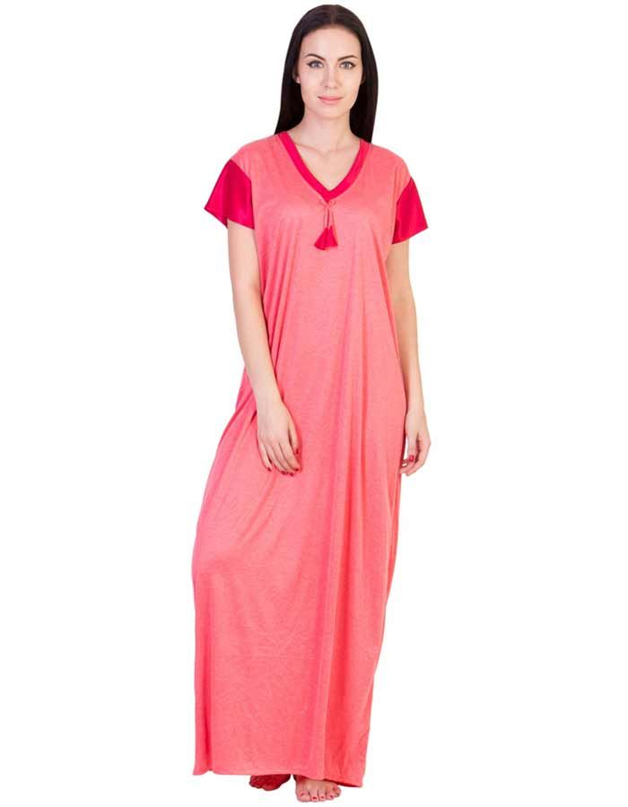 Buy American-Elm Women\'s Stylish Red Cotton Gown Online at low price ...