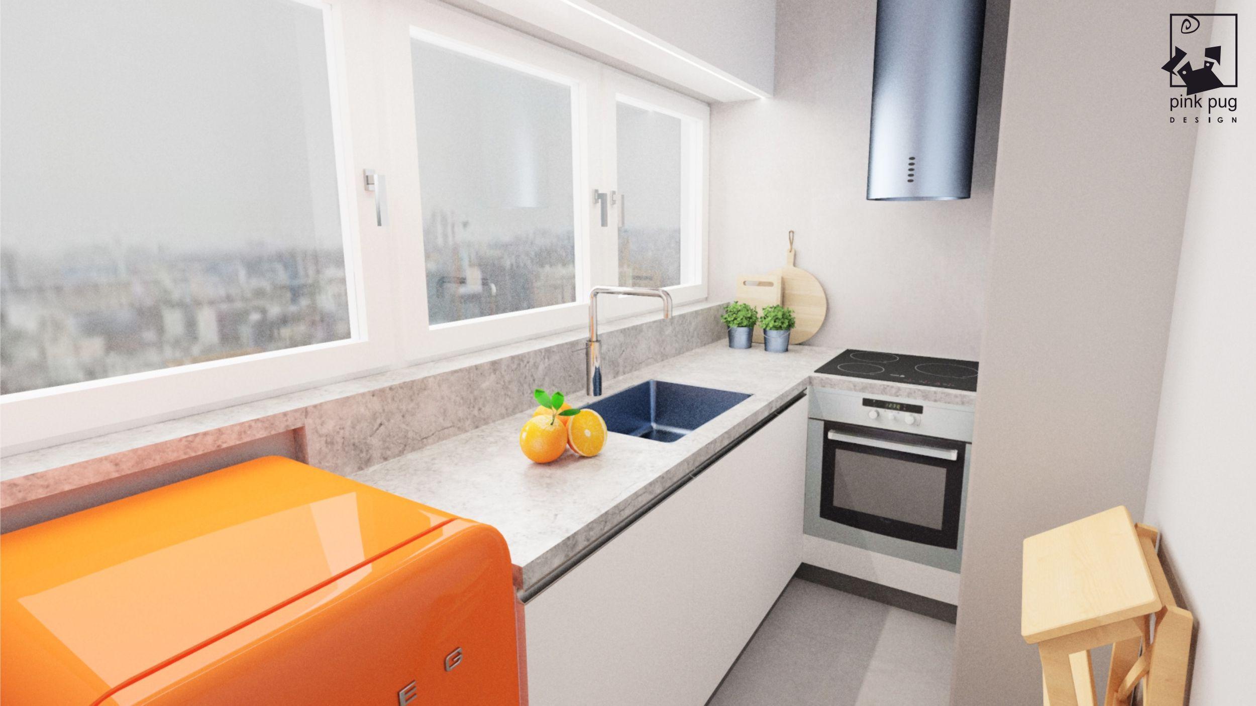 Zdjecie Mala Kuchnia W Bialo Szarym Kolorze Interior Design Kitchen Kitchen Design Small Kitchen Design