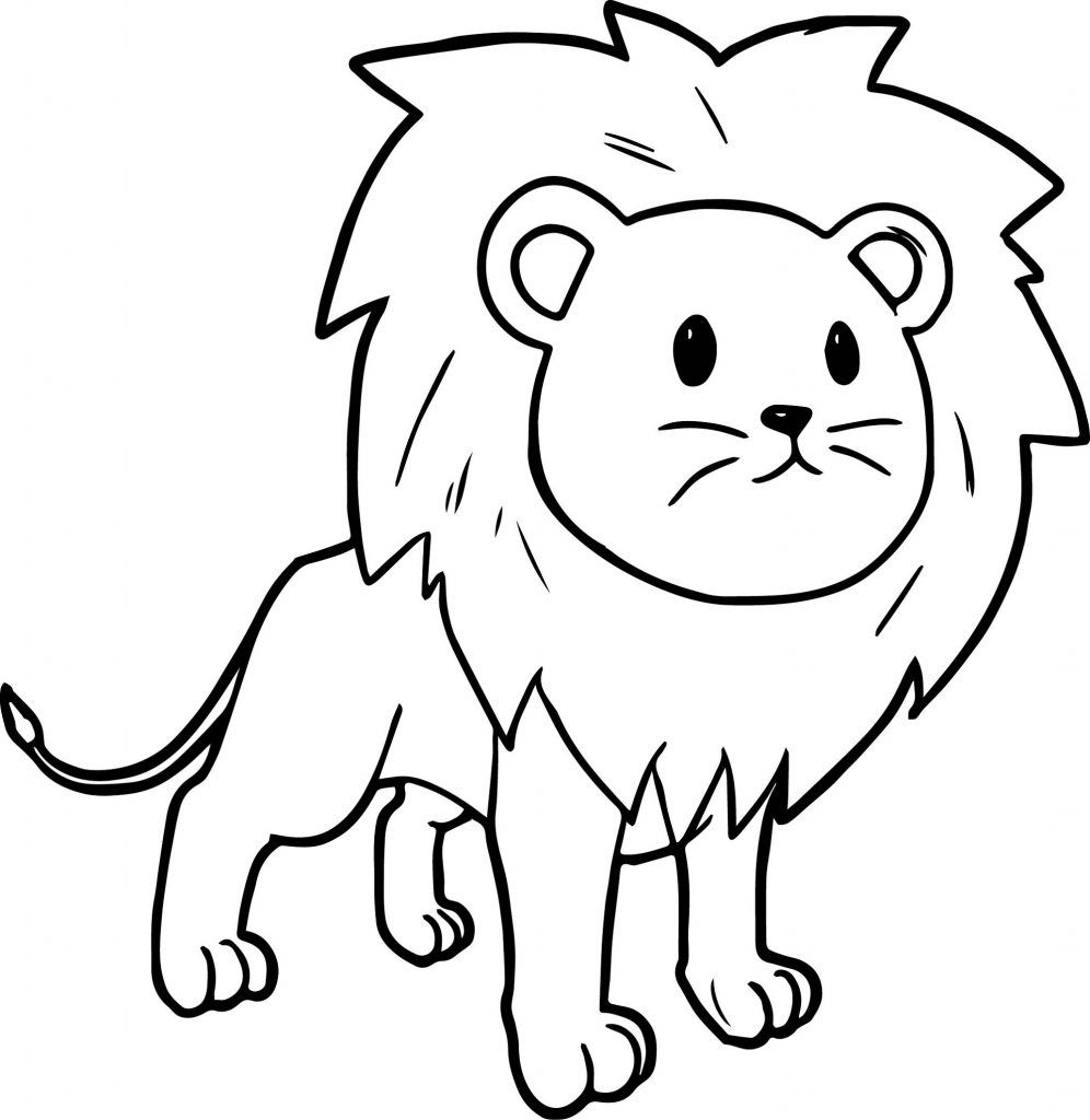 Lion Coloring Pages Simple And Advanced Lion Coloring Pages Animal Coloring Pages Zoo Animal Coloring Pages