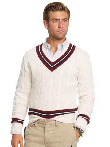Cotton-Blend Cricket Sweater - Polo Ralph Lauren V-Neck - RalphLauren.com