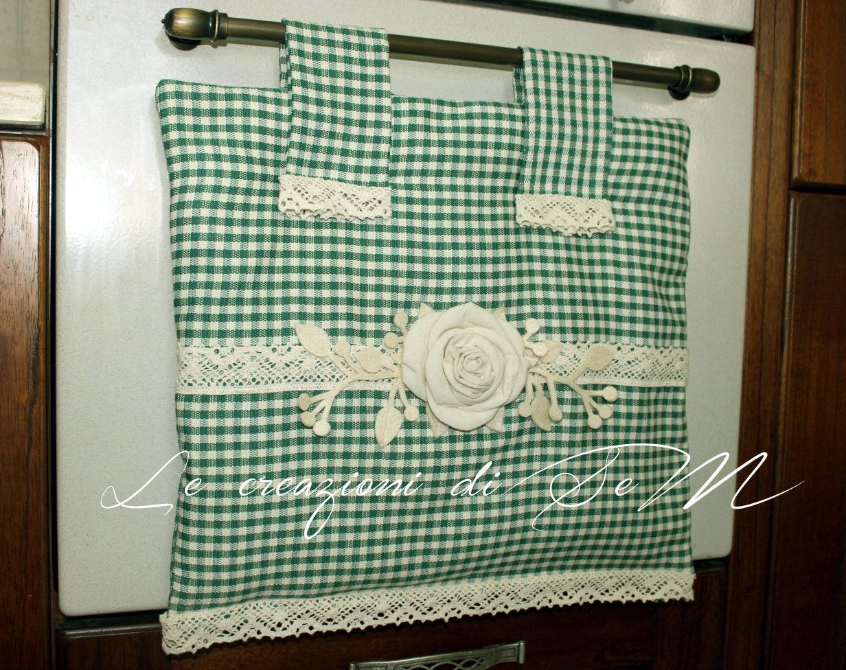 Copriforno shabby country chic cucito creativo for Siti cucina
