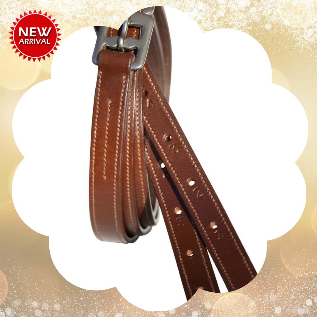 Stitched Edge Show Stirrup Leathers Childs 36'' 50