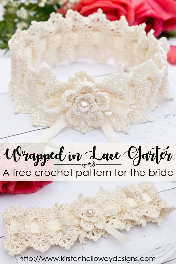 Wrapped In Lace Bridal Garter Easy Crochet Pattern For Weddings