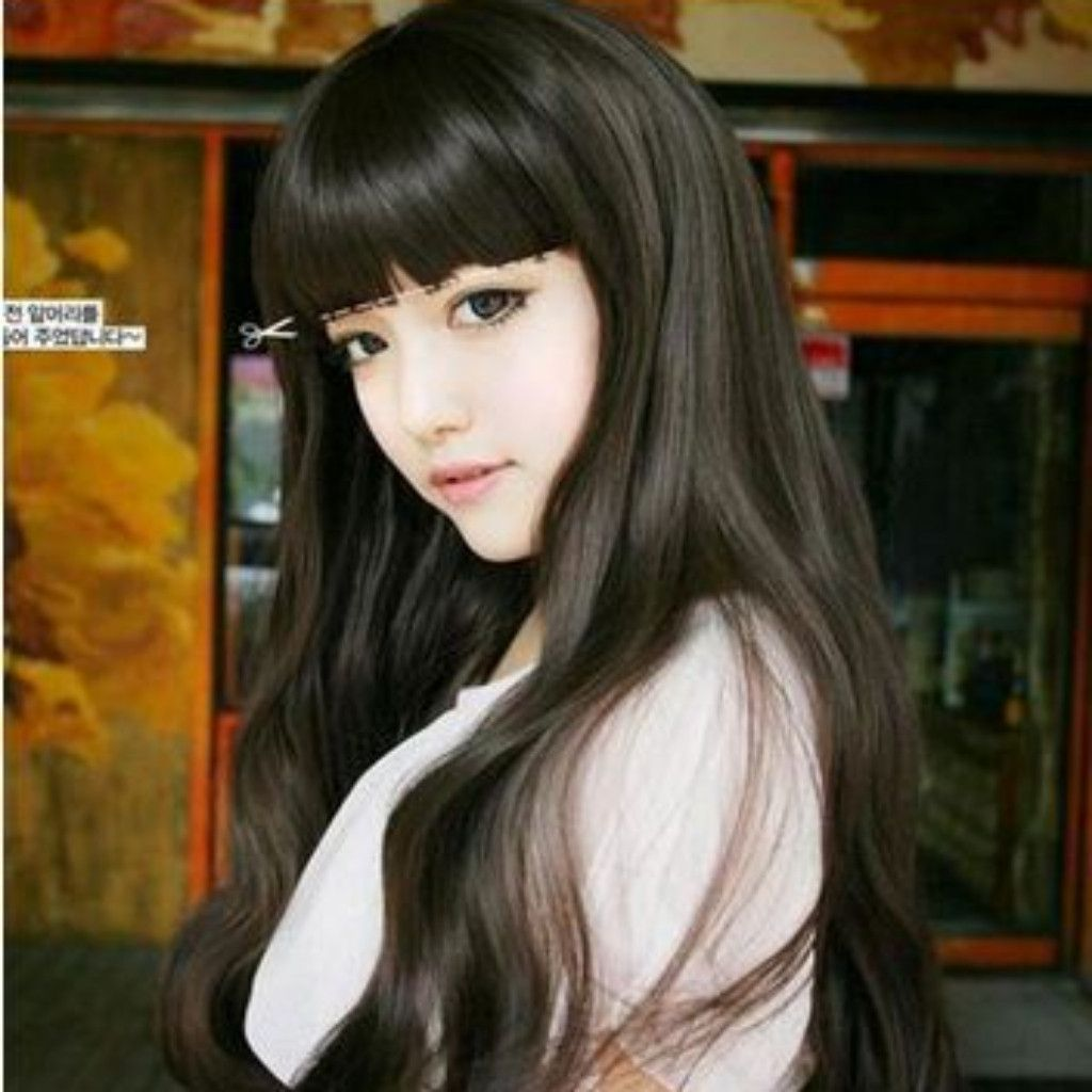 Black full lace wavy long synthetic wig synthetic wigs wig and