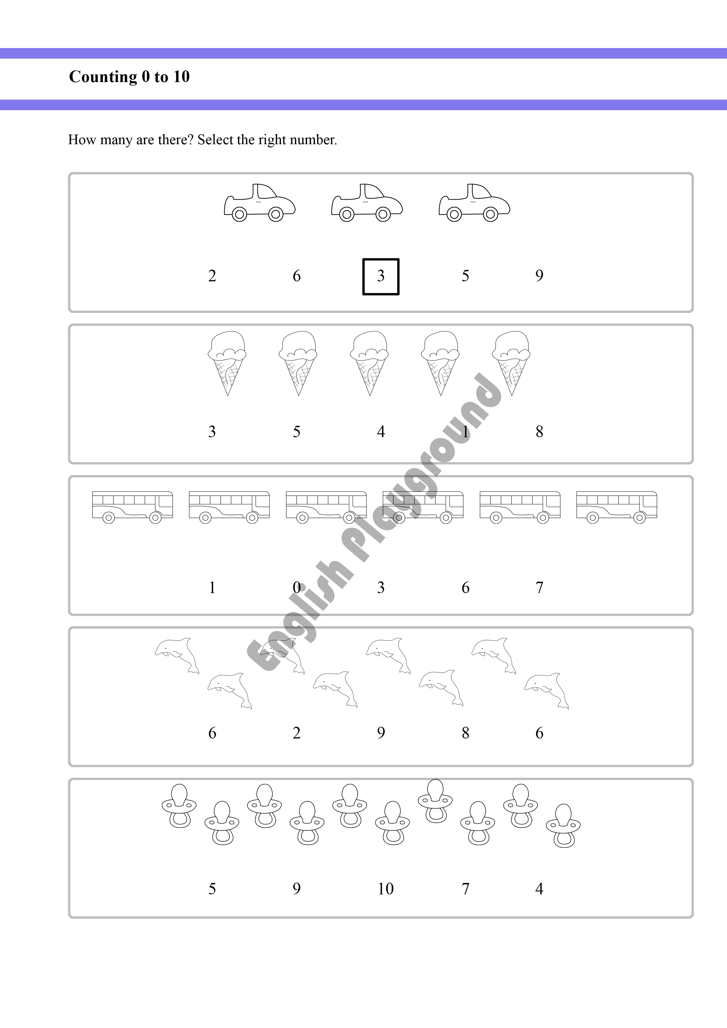 Counting Worksheet For Reception And Year 1