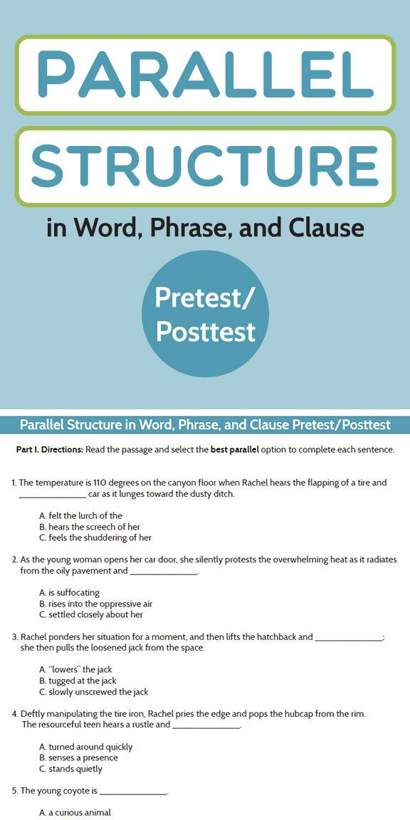Grammar Writing Parallel Structure In Word Phrase And