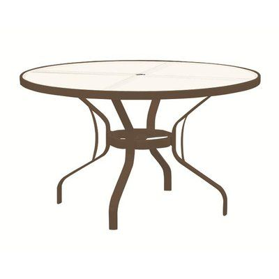 Tropitone Banchetto Glass Dining Table Color Parchment Glass Dining Table Dining Table Round Patio Table