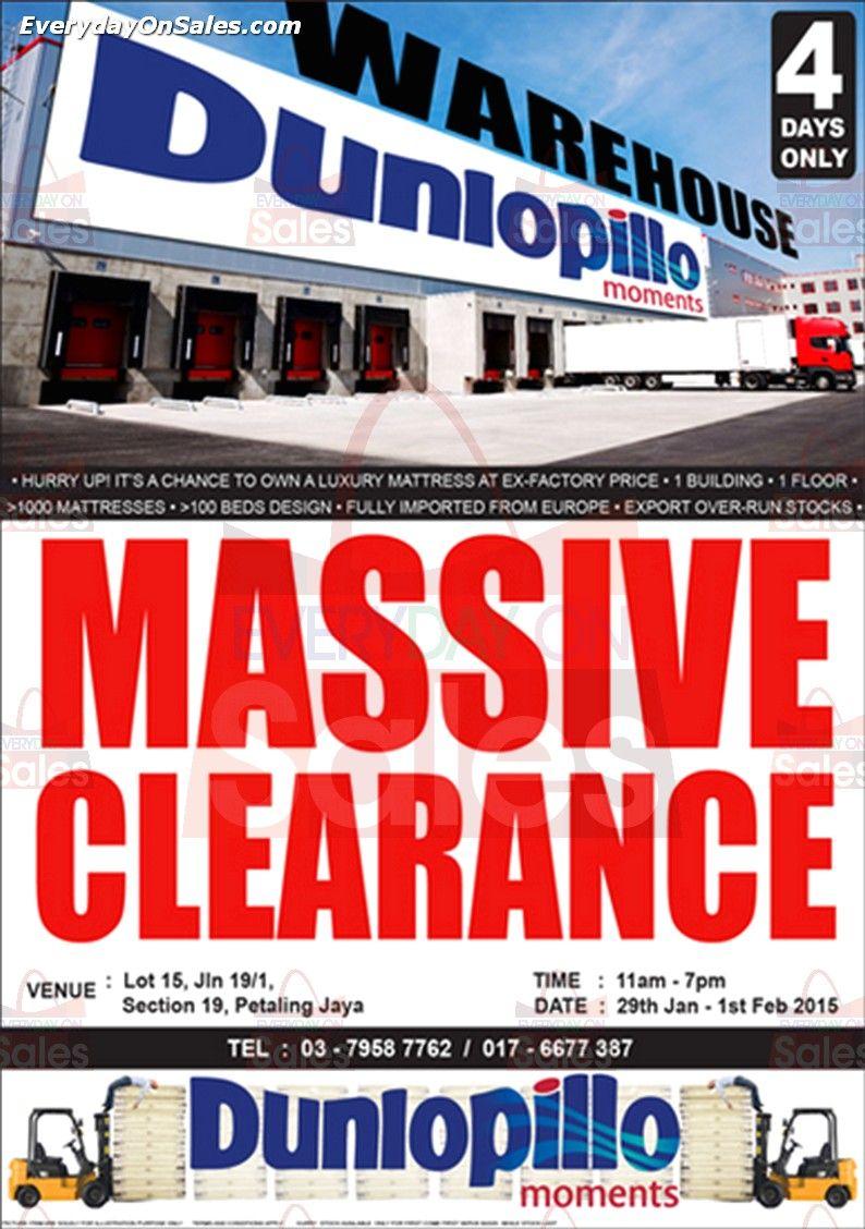 29 jan 1 feb 2015 dunlopillo warehouse sale for mattresses massive