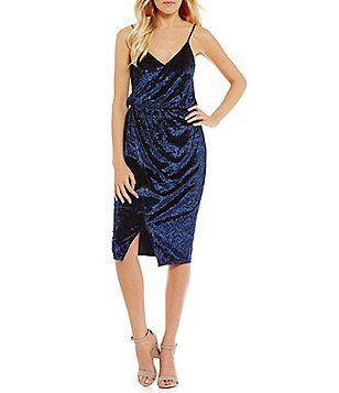 281f5161f139 Sugarlips Velvet Drape Midi Dress