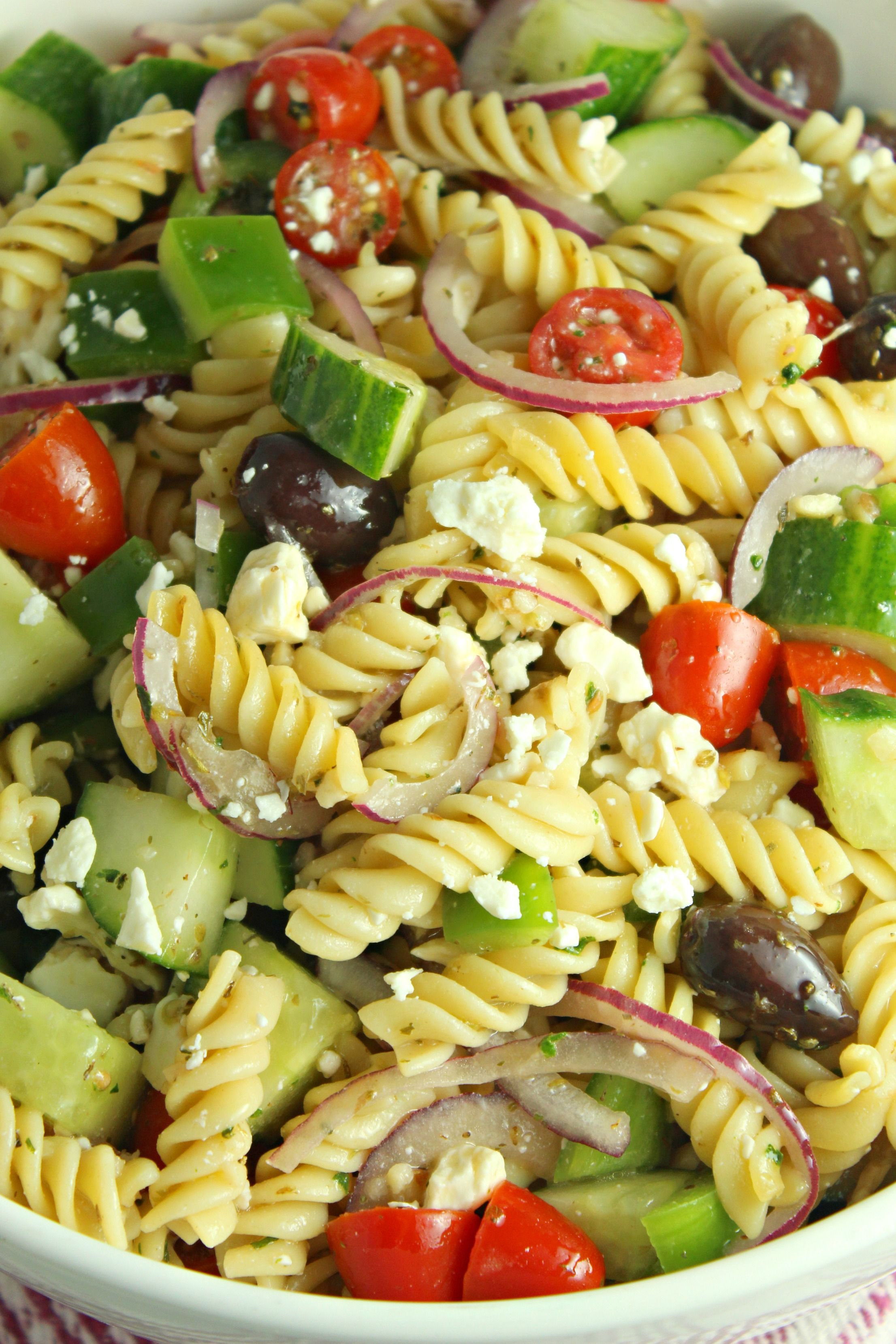 Greek Pasta Salad Recipe Greek Salad Pasta Pasta Salad