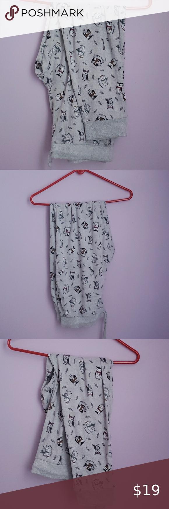 Gray Night Owl Jogger Pajama Pants Secret Treasur In 2020 Clothes Design Fashion Tips Pajama Pants