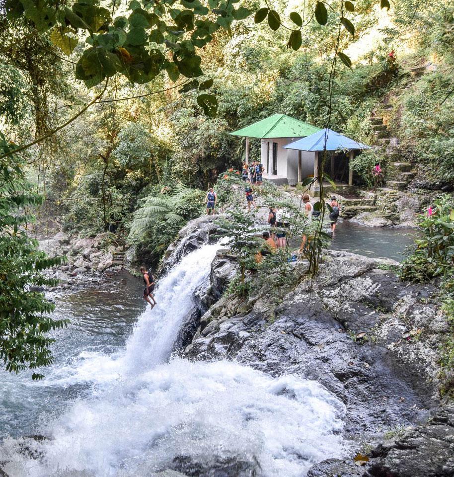 Wohoota Travel Adventure Sunrise Waterfall Jump in Ubud