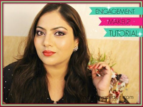 Soft Engagement Makeup Tutorial   Indian Makeup  Trystwithvanillagirl