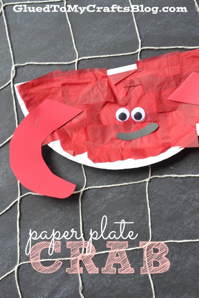Paper Plate Crab Craft #ArtsAndCrafts #KidsCrafts #Crafts #DIY #Beach #Ocean