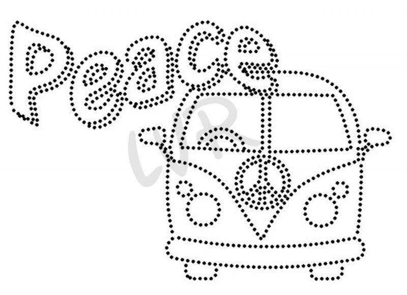Peace vw bus zeichnungen nagelbilder fadenkunst und fadenbilder - Fadenkunst vorlagen ...