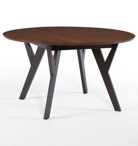 Wood Round Dining Table Extendable