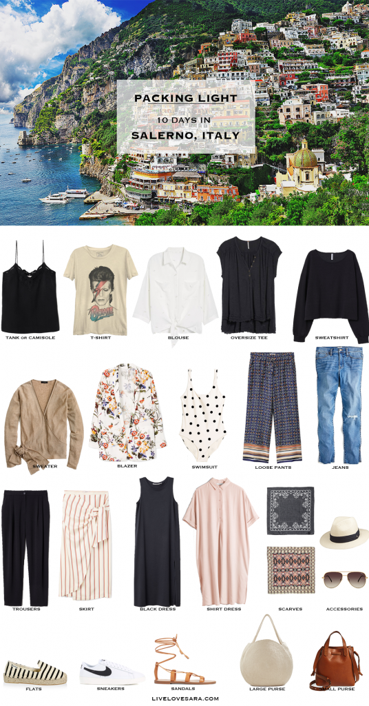 What to Pack for Salerno, Italy #travelwardrobesummer