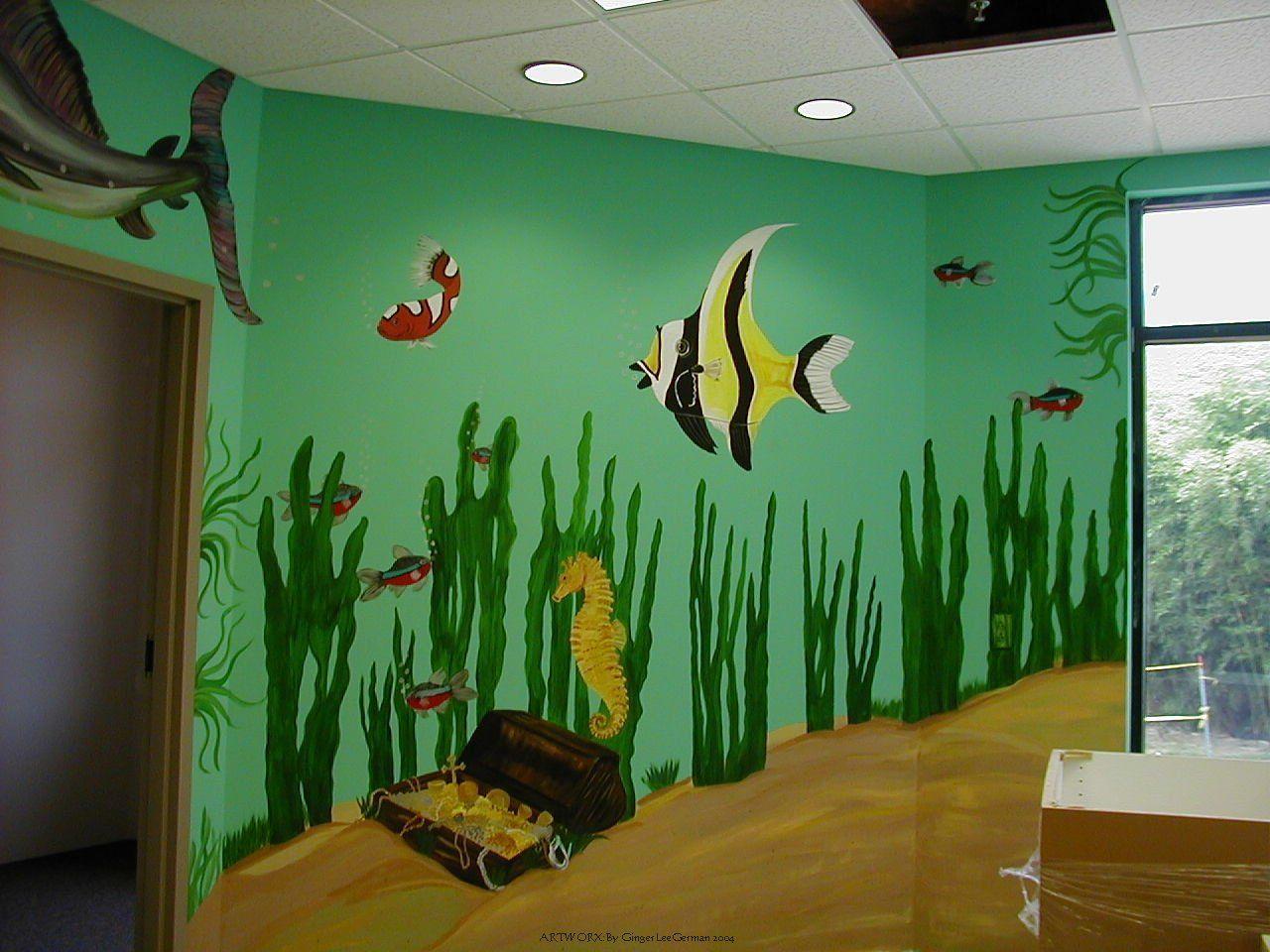 pics photos fish aquarium murals from wallpaper wonderful wall decal ...