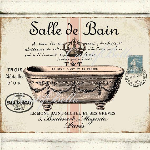 Bañera parisiense francés Vintage Salle De Bain descarga Arte - volume salle de bains